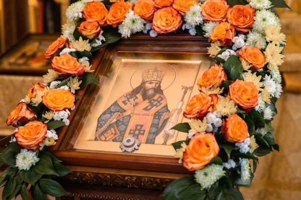 Икона святителя Феодосия Черниговского с частицей мощей святого