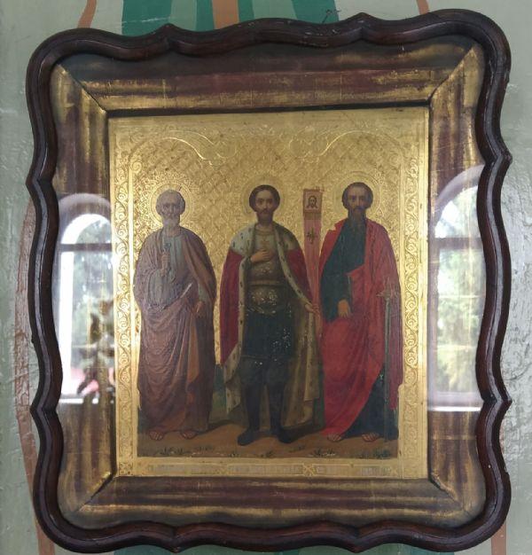 икона св. ап. Петра св. благ. князя Александра Невского св. ап. Павла