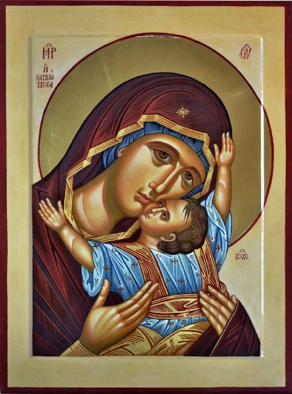 Икона Божией Матери `Сердечная`,   находится в иконостасе храма