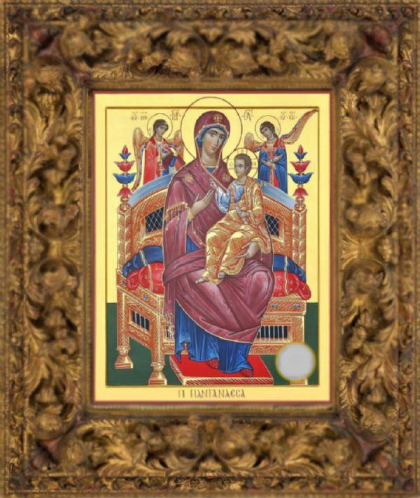 Икона Божией Матери «Всецарица» с частичкой «Ризы Ея»