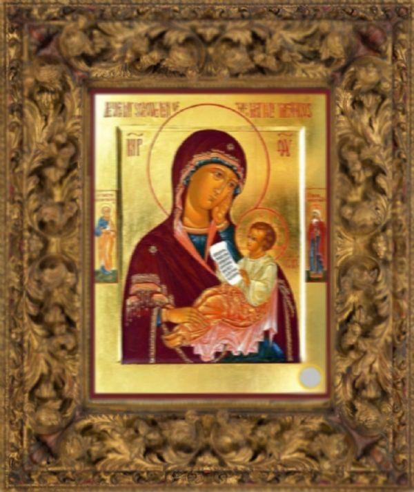 Икона Божией Матери «Утоли моя печали» с частичкой «Ризы Ея»