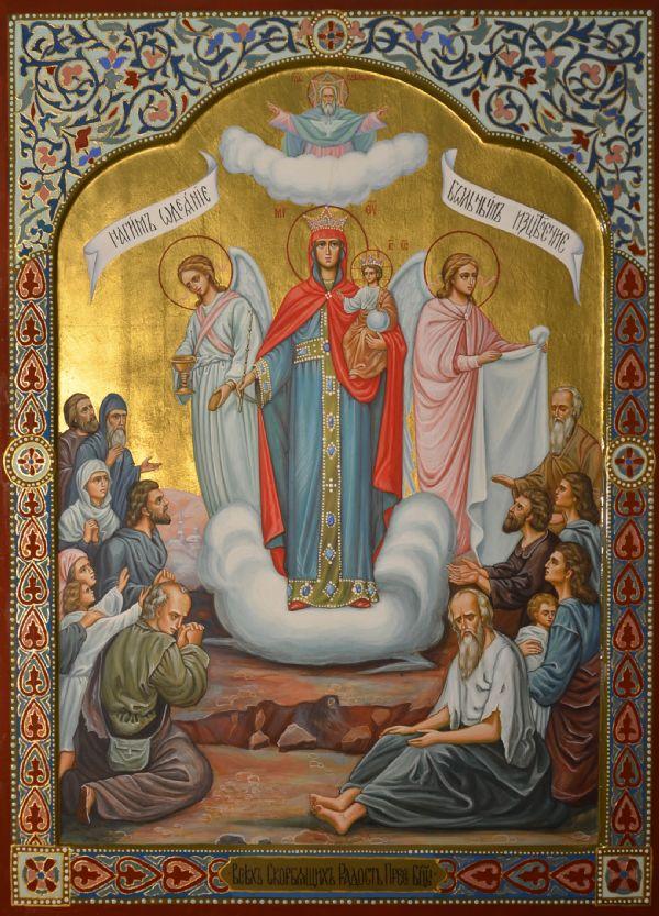 Храмовая икона Божией Матери `Всех скорбящих Радосте` , находится в иконостасе