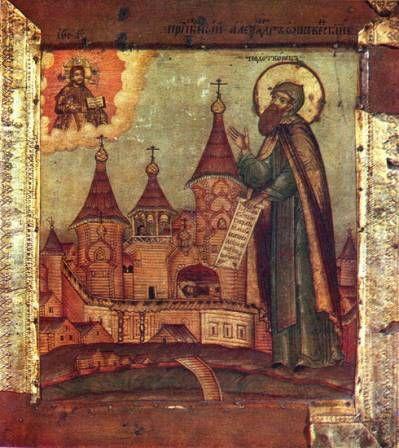 Икона прп. Александра Ошевенского
