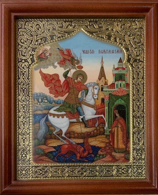 Чудо св. Георгия о змеи, Свеча № 30, воск