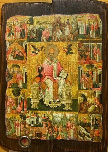 св. Спиридо́н Тримифу́нтский, Свеча № 30, воск