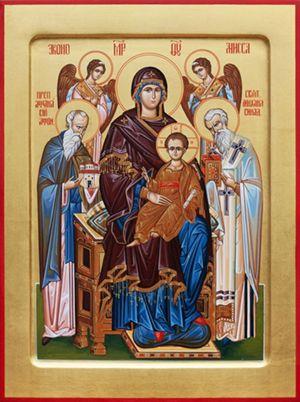 Икона Божией Матери `Домостроительница` (помощь в устроении быта и строительстве монастырей)