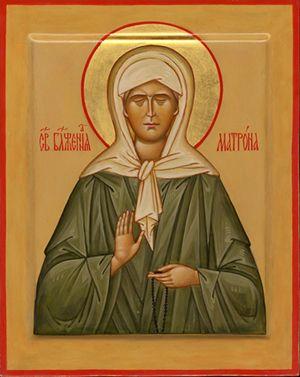 Икона св. блаженной Матроне Московской