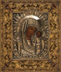 Икона Божией Матери «Казанская» с частичкой «Ризы Ея»