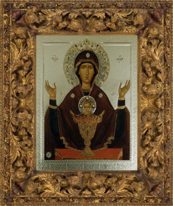 Икона Божией Матери «Неупиваемая чаша» с частичкой «Ризы Ея»