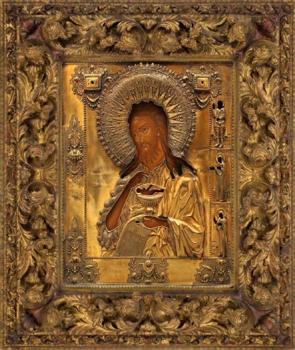 Икона Пророка, Предтечи и Крестителя Господня Иоанна  с частичкой