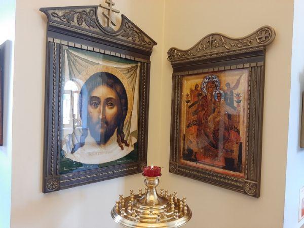 Спаситель - Нерукотворный Образ и Пресвятая Богородица - Всецарица