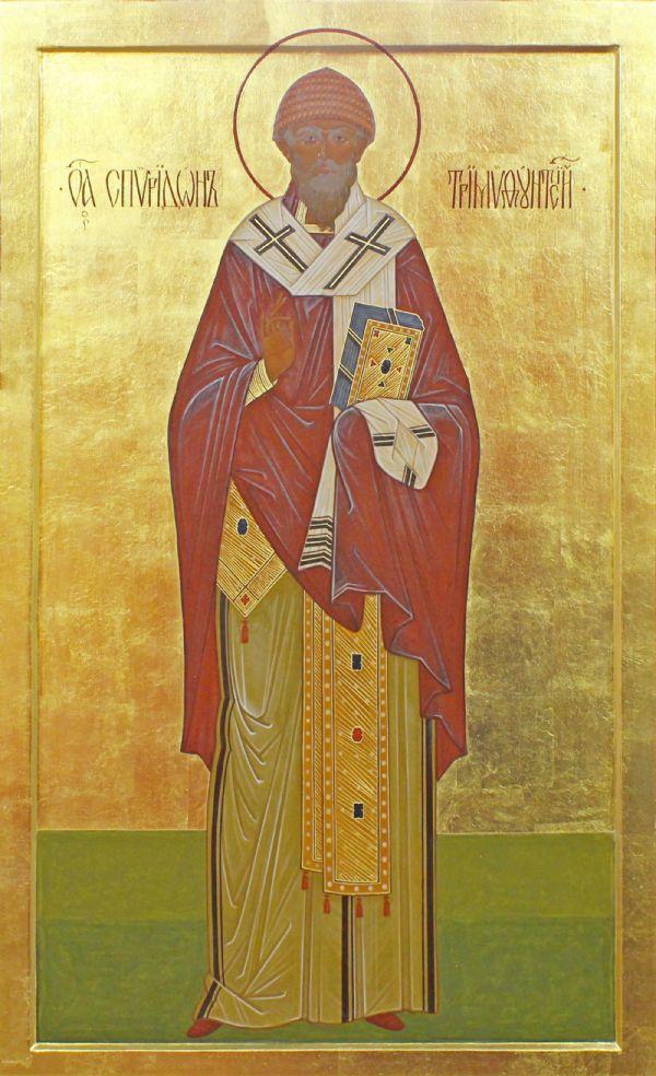 Икона свт. Спиридона Тримифунтского надгробия