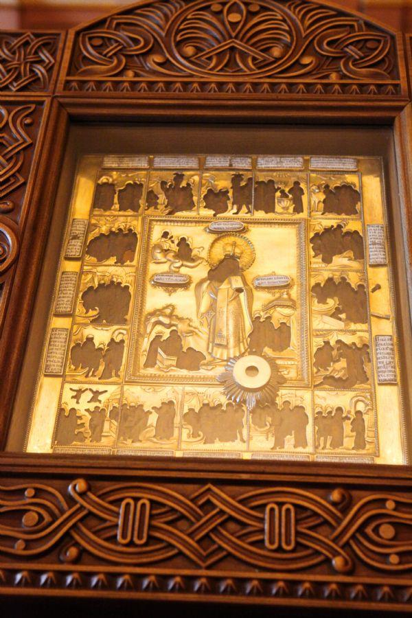 Священномученик Харалампий Магнезийский. Икона с частицей святых мощей.