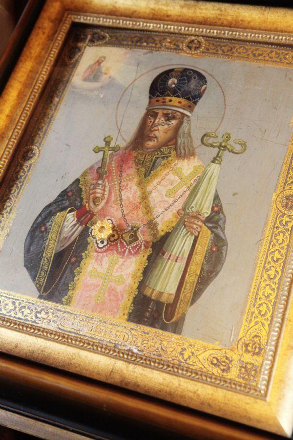 Святитель Иоасаф Белгородский. Икона с частицей святых мощей.